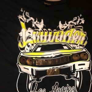 Long sleeve black low rider shirt